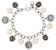 Or Paz Cultured Pearl & Roman Glass Sterling Charm Bracelet - J318283