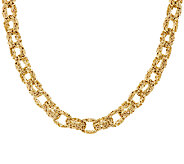 14K Gold 18 Bold Polished Byzantine Rolo Link Necklace, 36.0g - J318983