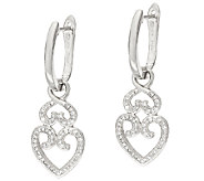Lace Design Diamond Drop Earrings, Sterling, 1/4ct tw by Affinity - J321383