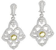 Judith Ripka Sterling Floral Gemstone Earrings - J323383