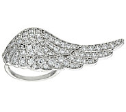 Diamonique Angel Wing Ring, Sterling - J324383