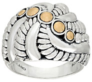 JAI Sterling & 14K Andaman Sea Shell Twist Ring - J325183