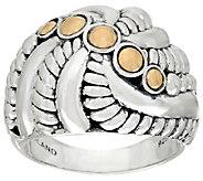 JAI Sterling & 14K Andaman Sea Shell Twist Ring - J325183
