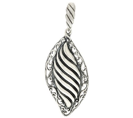 Carolyn Pollack Sterling Silver Signature Scroll & Ribbed Enhancer - J325583