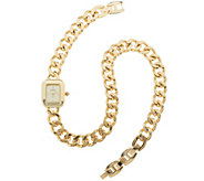 As Is Joan Rivers Double Wrap Curb Link Watch - J327083