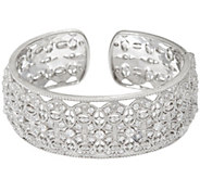 Judith Ripka Sterling 3.40 cttw Estate Diamonique Cuff Bracelet - J328783