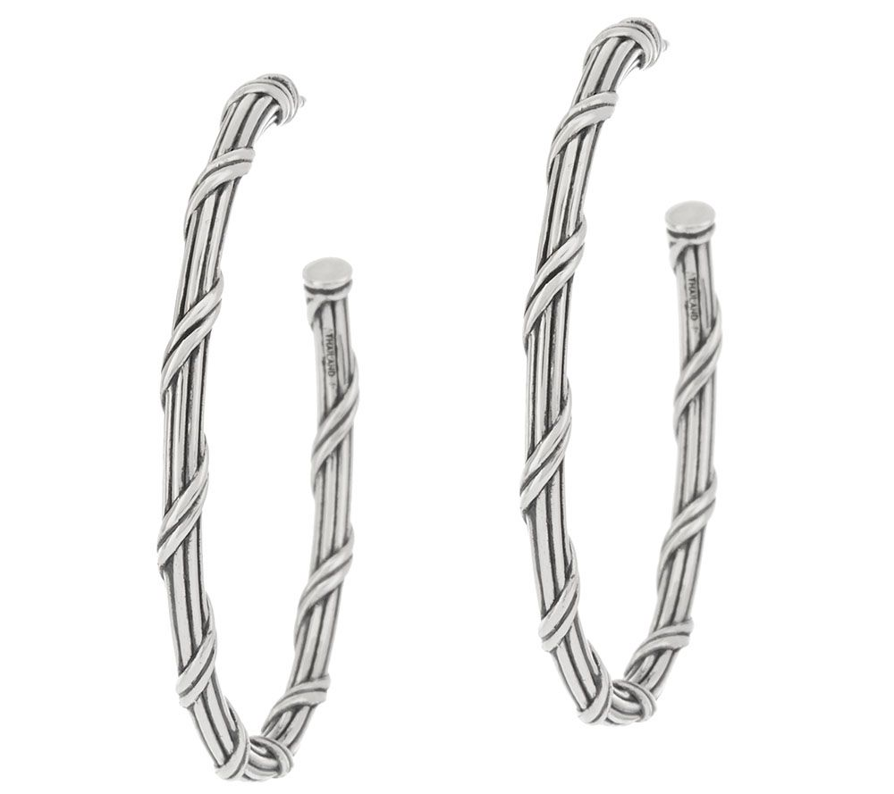 Peter Thomas Roth Sterling Signature Classic Hoop Earrings