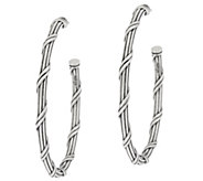 Peter Thomas Roth Sterling Signature Classic 1-1/2 Hoop Earrings - J328883