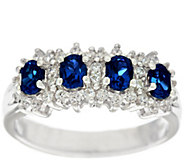 Diamonique Simulated Gemstone Band Ring, Sterling - J328983