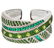 Judith Ripka Sterling Silver 20.20 cttw Multi-Gemstone Cuff Bracelet - J329283