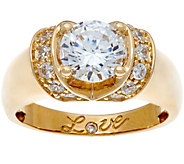 Diamonique 1.75 cttw Love Ring, 14K Gold - J334683