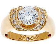 Diamonique 1.75 cttw Love Ring, 14K Gold - J334683