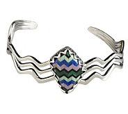 Carolyn Pollack Sterling Silver Tapestry Cuff Bracelet - J336483