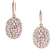Graziela Gems Blue Topaz Dangle Earrings, Sterling/18K Rose - J337083