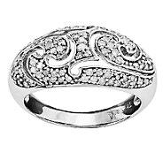 Sterling 1/2cttw Diamond Scroll Ring - J338883
