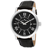 Lucien Piccard Stockhorn Mens Black Leather Watch - J339083