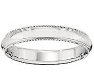 14K Gold 4mm Milgrain Comfort Fit Wedding BandRing - J340283