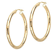EternaGold 1-1/2 Polished Tube Hoop Earrings,14K Gold - J340483
