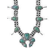 Jennifer Nettles Sterling Turquoise BlossomNecklace - J341483