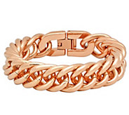 Stainless Steel 7 Bold Curb Link Bracelet - J342483