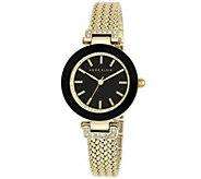 Anne Klein Womens Goldtone Mesh Bracelet Watch - J342983