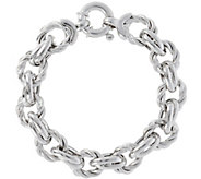 Vicenza Silver Sterling Twisted Link Bracelet,22.8g - J345083