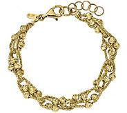 14K Diamond-cut Beaded 7 Bracelet, 9.5g - J345183