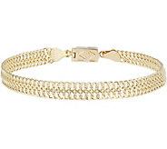 Click Secure 7-1/4 Woven Link Bracelet 14K Gold 3.8g - J345683