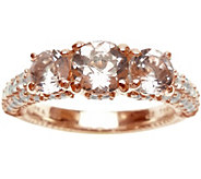 Judith Ripka 14K Rose Gold-Clad & Morganite Ring - J345783