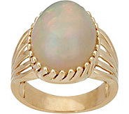Ethiopian Opal Bold Cocktail Ring 14K Gold - J348583