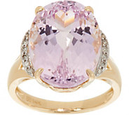Oval Kunzite & Diamond Ring 14K Gold 10.70 ct - J349283