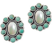 EXEX by Claudia Agudelo Sterling Silver Gemstone Cluster Earring - J350883