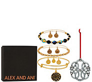 Alex and Ani Set of 3 Let It Snow Bangles & Ornament - J351883