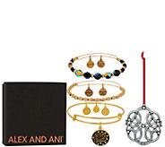 Alex and Ani Set of 3 Let It Snow Bangles & Ornament - J351883