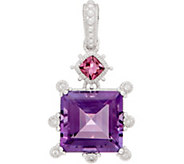 Judith Ripka Sterling Silver Gemstone Enhancer, 6.70 cttw - J352283