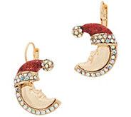 Kirks Folly Candy Cane New Moon Earring - J352483