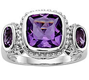 Sterling 4.30 cttw Amethyst & Diamond Accent Ring - J374883
