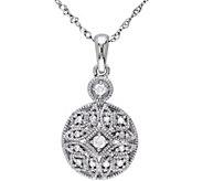 Beaded Round Diamond Pendant, 14K, 1/8 cttw, byAffinity - J376483