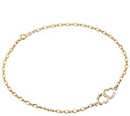 Black Hills Double-Heart Ankle Bracelet, 10K/12K Gold - J384483