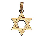 14K Yellow Gold Star Of David Pendant - J108184