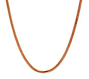 Bronze 16 Polished Snake Chain Necklace by Bronzo Italia - J278984