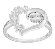 Solvar Sterling Silver Heart Shamrock Ring - J287484
