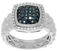 Pave Color Diamond Braided Ring, 1/4 cttw Sterling by Affinity - J288184