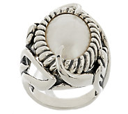 Carolyn Pollack Coronation Mabe Pearl Sterling Ring - J289984