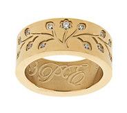 Stainless Steel Family Tree Engraved Ring - J292784