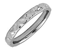 Simply Stacks Sterling Black Rhodium-Plated 3.25mm TextureRing - J298084