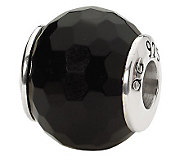 Prerogatives Sterling Black Agate Gemstone Bead - J298184