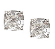 Sterling 3.15 cttw Cushion-Cut Gemstone Stud Earrings - J308784
