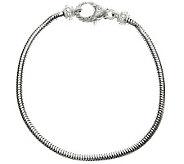 Judith Ripka Sterling 1/7 cttw Diamonique Charm Bracelet - J309084