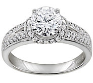 Diamonique 2.40 cttw Ring, Platinum Clad - J309784